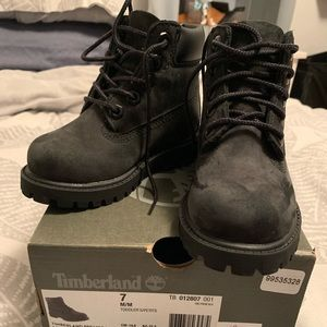 Toddler Boys Black Timberland Boots